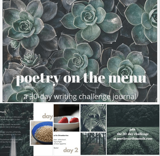 30-day writing challenge journal on canva