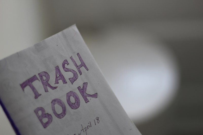 trash book before