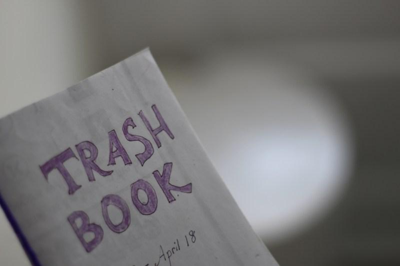 a trash waste book when zero had been written in it