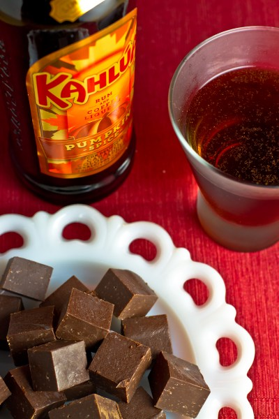 Kahlúa Pumpkin Spice Fudge and Martini