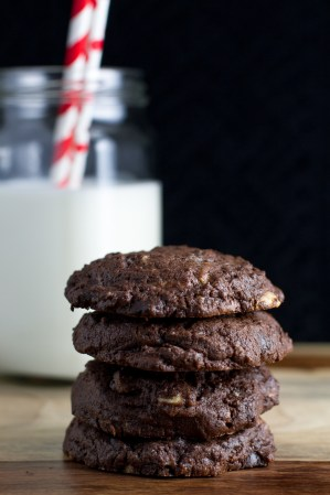 Triple Chocolate Cookies & Food Blogger Cookbook Swap