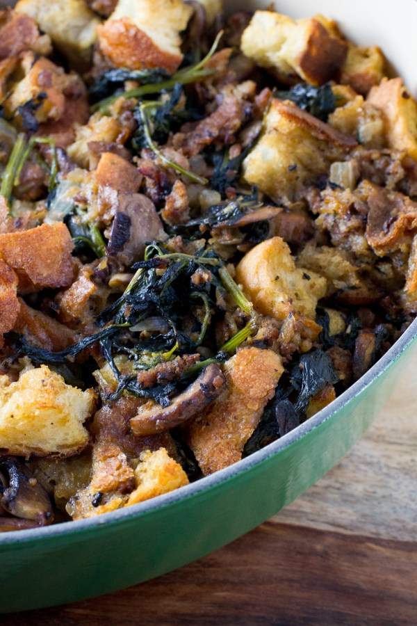 Jones Sausage and Spinach Stuffing - Poet in the Pantry