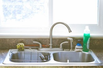 A kitchen sink is a great place to start with re-organizing your kitchen--and OXO has just what you need to get it done! #OXOSpringCleaning