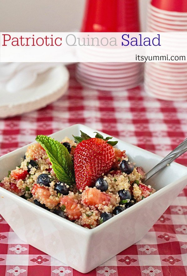 Patriotic Quinoa Salad from It's Yummi