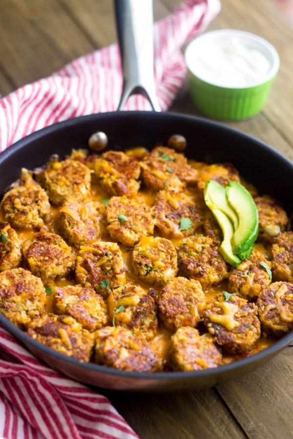 Mexican Cauliflower Tator Tot Casserole ~ Food Faith Fitness