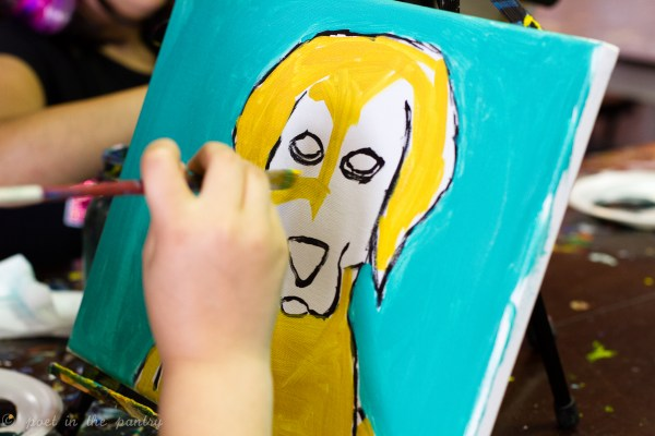 Painting parties are a fun way to celebrate a child's birthday! You'll be amazed at how quickly they calm down and get right to work on a masterpiece they can take home with them!