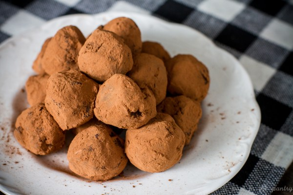 Ginger Orange Chocolate Truffles are an easy confection you can easily make yourself for gift-giving--or just plain eating!