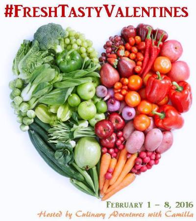 Welcome to #FreshTastyValentines, a week of fabulous Valentine's Day recipes plus a HUGE giveaway!!