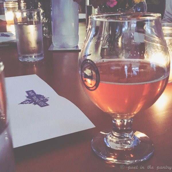 At the Peak Organic beer dinner at the MV Winefest, guests were treated to a multi-course meal prepared by Dan Whalen of the popular blog, The Food in My Beard {sponsored post}