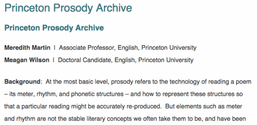The Princeton Prosody Archive