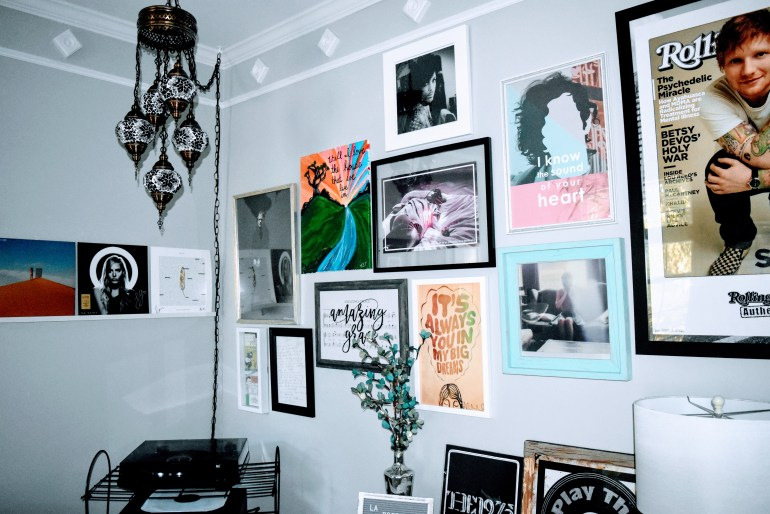 Vinyl Room gallery wall