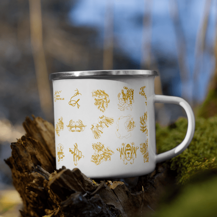 enamel mug protein rich decor