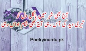 sad poetry in urdu two lines