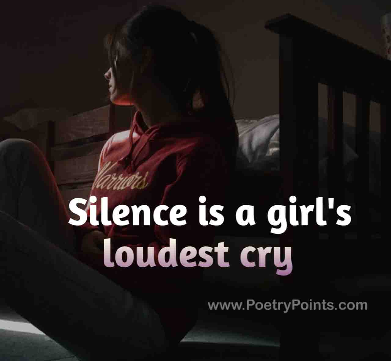 When a woman goes silent on you