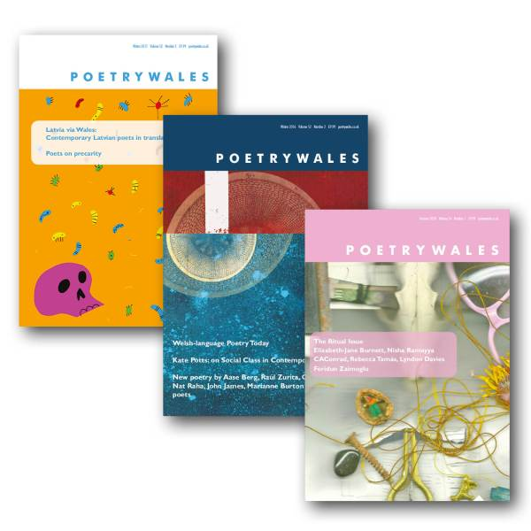 One year subscription to Poetry Wales 3 issues