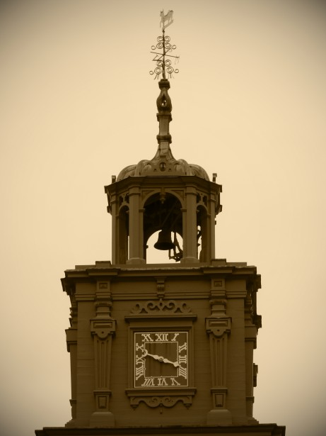 bell-tower-and-clock-sepia
