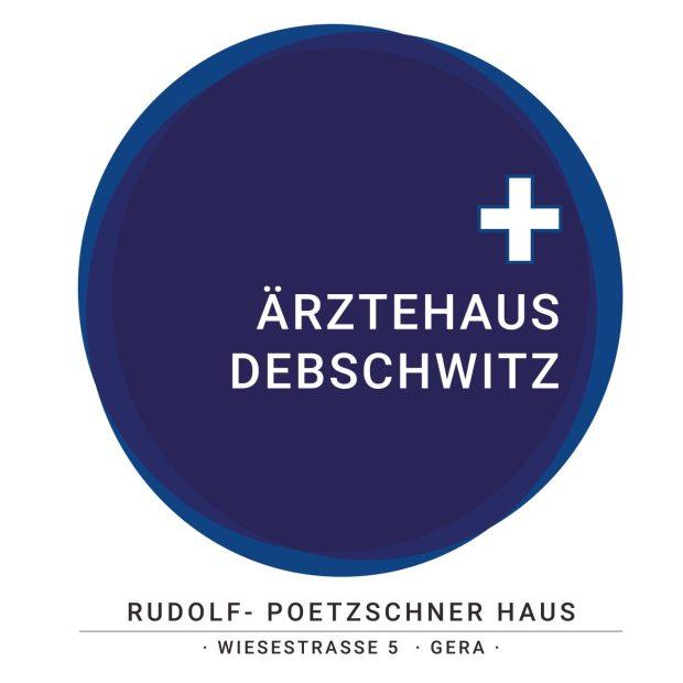 Referenz: Ärztehaus in Gera - Debschwitz. Hier das neue Logo.