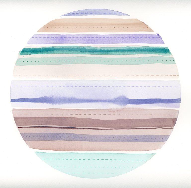 Stripes & Stitches Watercolor 1