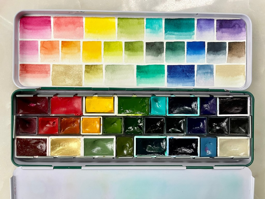 Primary watercolor palette