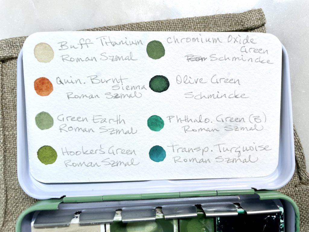 Terrain watercolor palette reference card