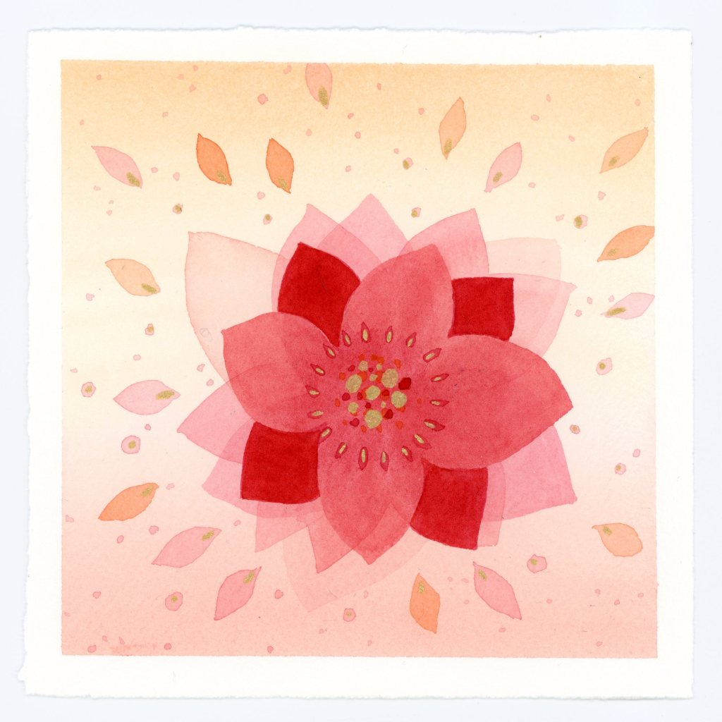 Abstract blossom watercolor