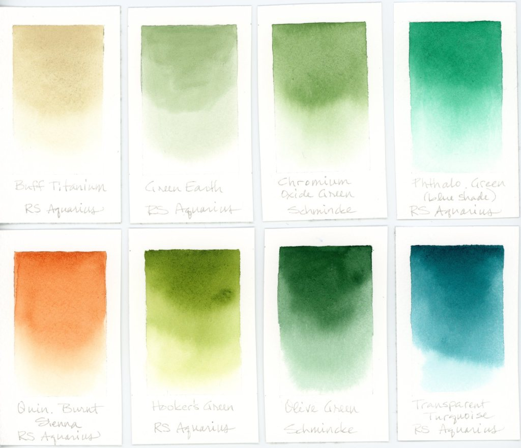 Terrain watercolor palette swatches