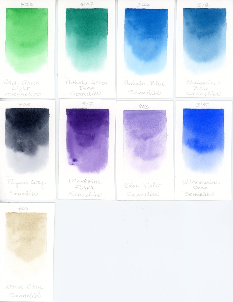 Sennelier watercolor swatches (2)