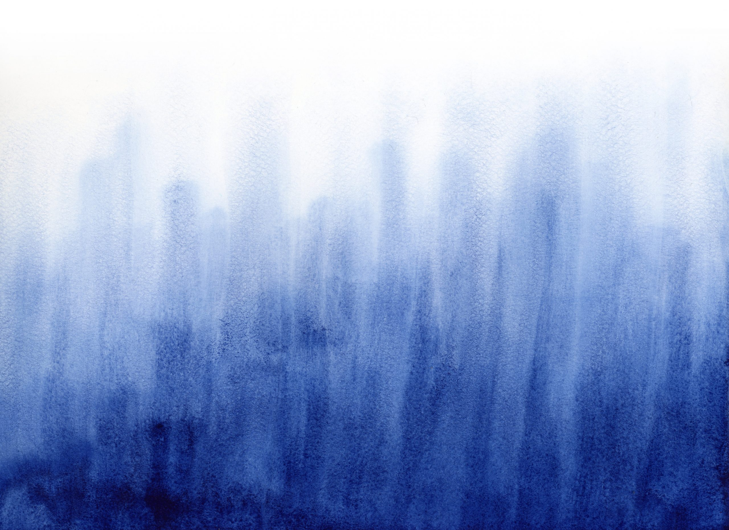 Deep blue abstract watercolor painting