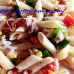 Salata rapida de paste cu ton si legume
