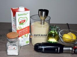 Maioneza de post din lapte de orez, migdale sau soia, reteta rapida