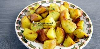 Cartofi cu marar si usturoi, la tigaie