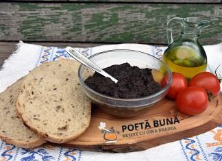 Pate vegetal, pasta tartinabila de masline, reteta de post