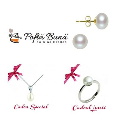 Poti castiga o bijuterie din aur sau argint, cu perle naturale