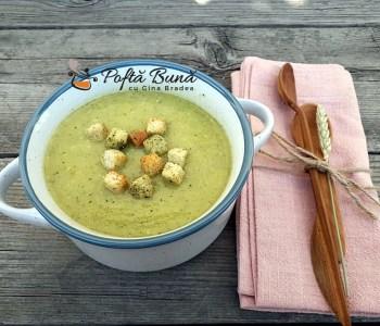 Supa crema din dovlecei cu legume, reteta de post sau de dulce