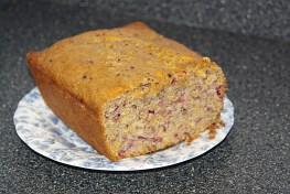Great example of texture is my cranberry nut bread.