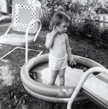 Swimming in my undies missing dad.