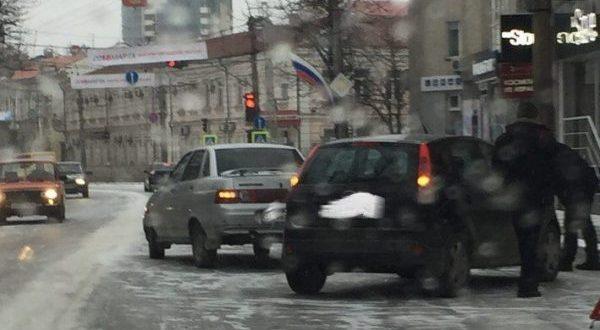 Незначительное ДТП на пр.Кирова