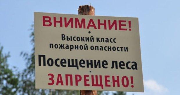 В Крыму - высокий класс пожарной опасности