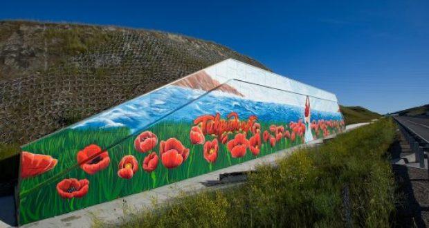 Художники арт-кластера «Таврида» нарисовали в Крыму огромный пейзаж