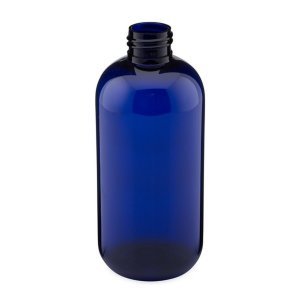 240ml blue plastic bottle