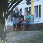 Citizens of Christchurch contemplate our canoeing