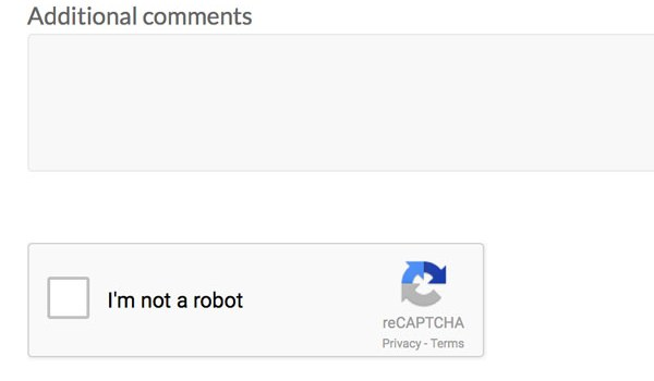 Are you a robot? Stopping spam with Google reCAPTCHA