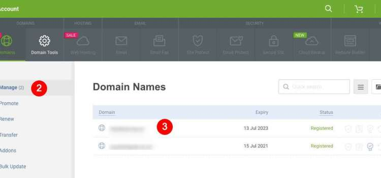 How do I update my domain DNS settings?