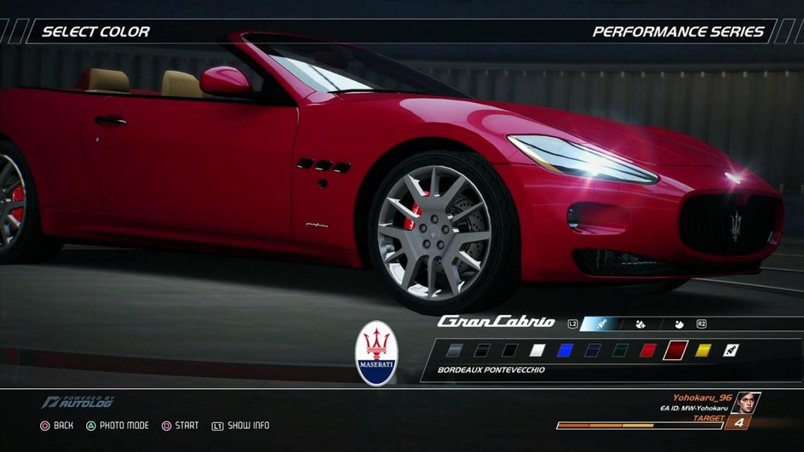 Need for Speed Hot Pursuit Remastered - wewnątrz garażu