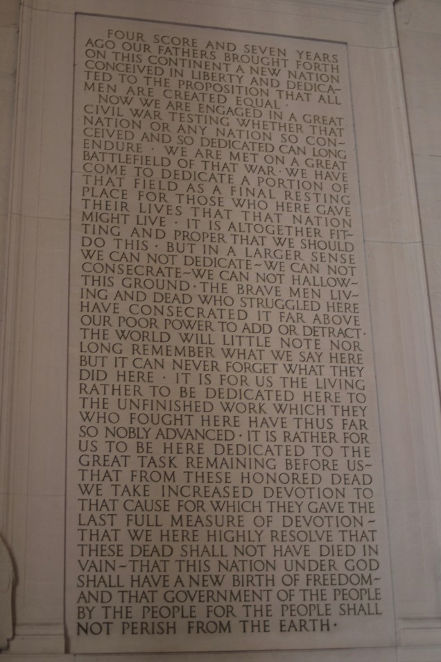 The famous Gettysburg Address