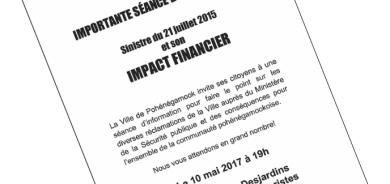 Importante séance d'information – Impact financier du sinistre du 21 juillets 2015