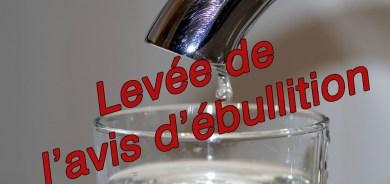 LEVÉE DE L'AVIS D'ÉBULLITON