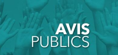 Avis d'assemblée publique de consultation