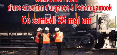 SIMULATION D'UN INCIDENT MAJEUR À POHÉNÉGAMOOK