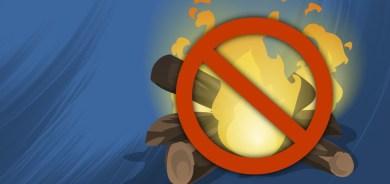 Brûlage et autres feux extérieurs interdits